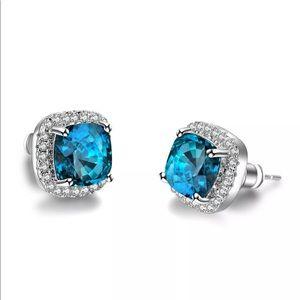 Jewelry - 💎 Stunning 925S Deep Blue Rhinestone Earrings